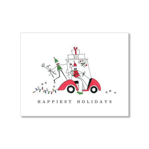"""EVERGREEN SWAG"" HOLIDAY PHOTO CARD"