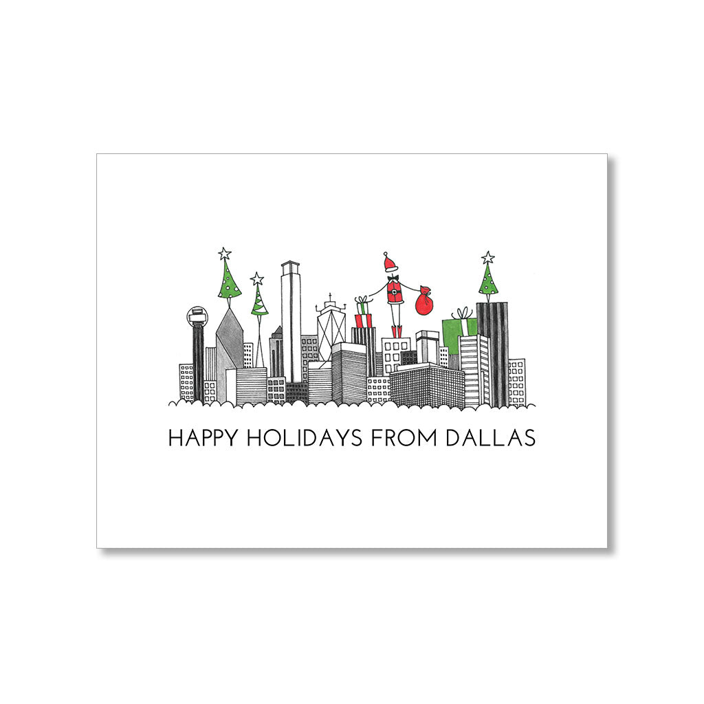 """DALLAS SKYLINE"" HOLIDAY CARD"