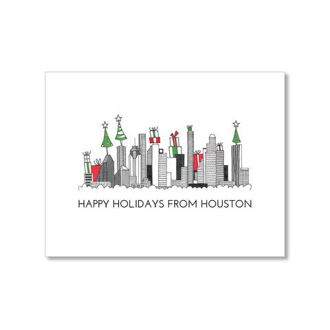 """HOUSTON SKYLINE"" HOLIDAY CARD"