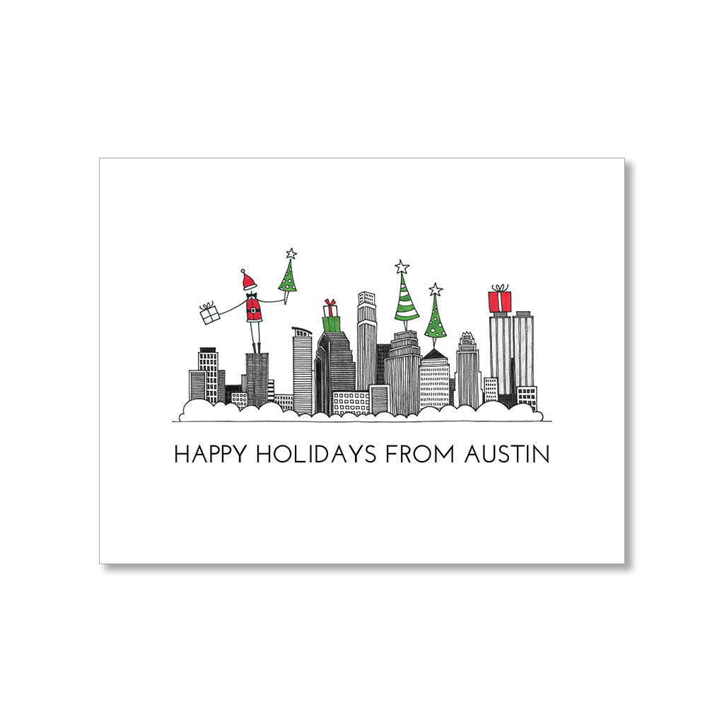 """AUSTIN SKYLINE"" HOLIDAY CARD"