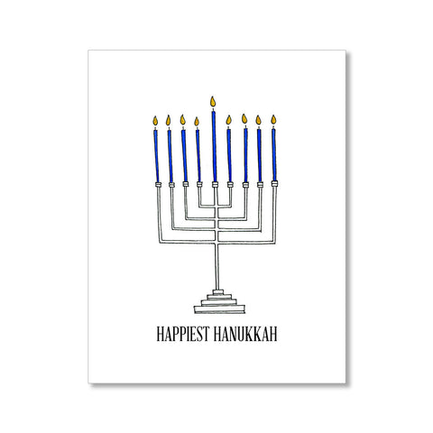 """MENORAH"" HANUKKAH CARD"