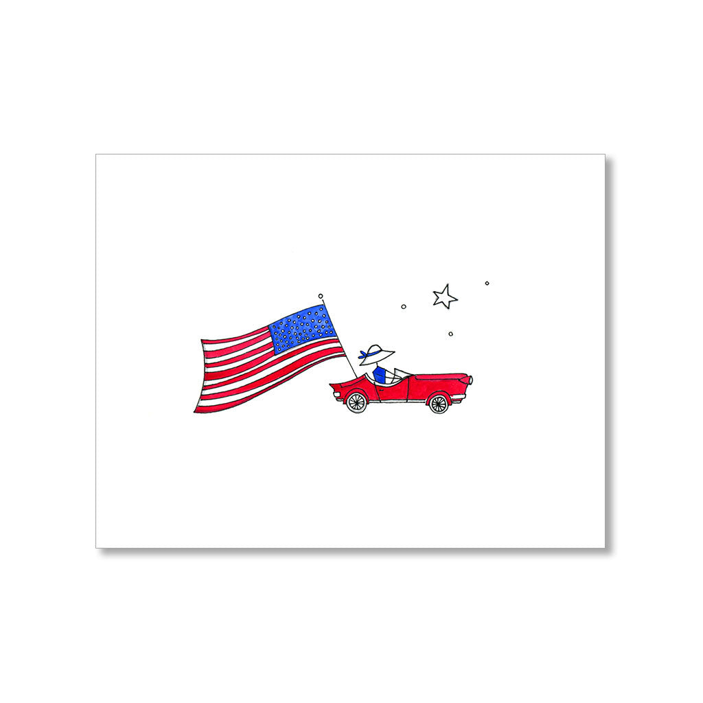 """THE FESTIVE CONVERTIBLE"" PATRIOTIC CARD"
