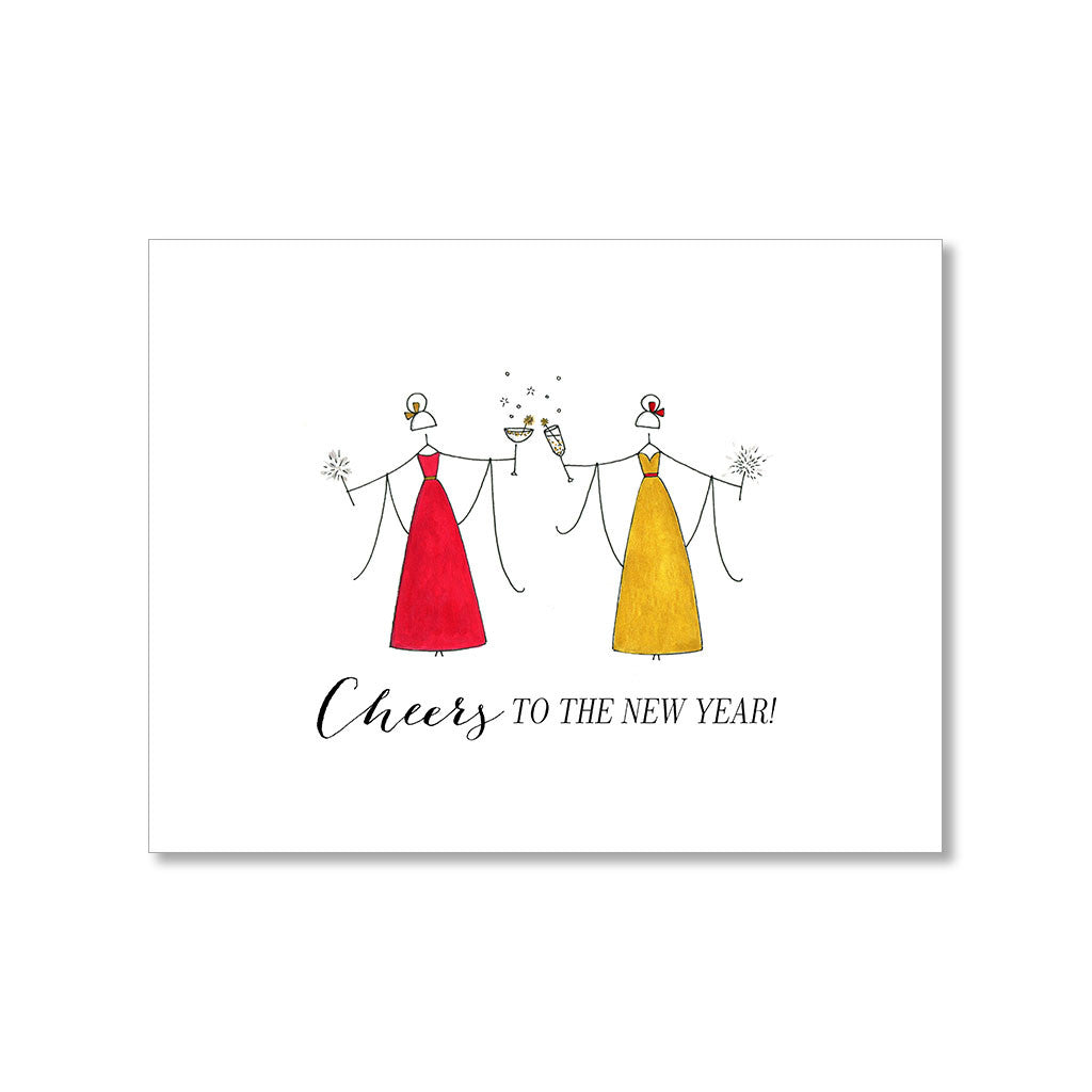 """CHEERS"" NEW YEAR CARD"