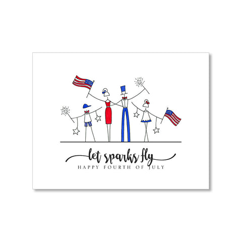 """SPARKS"" FOURTH OF JULY CARD"