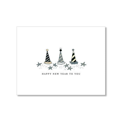 """PARTY HATS"" NEW YEAR CARD"