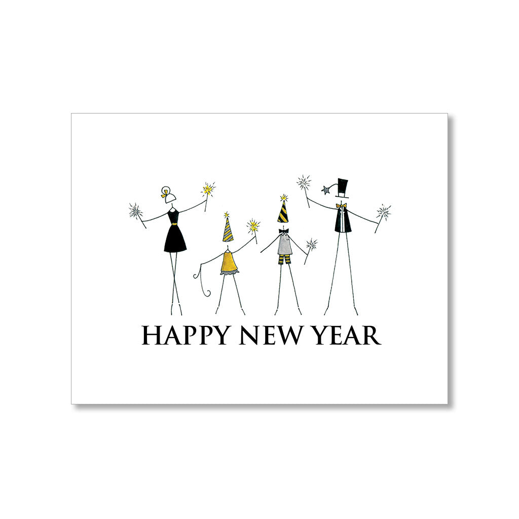 """SPARKLERS"" NEW YEAR CARD"