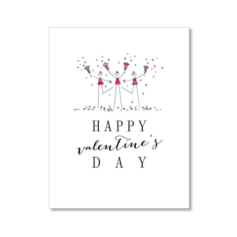 """HEART CONFETTI"" VALENTINE'S DAY CARD"