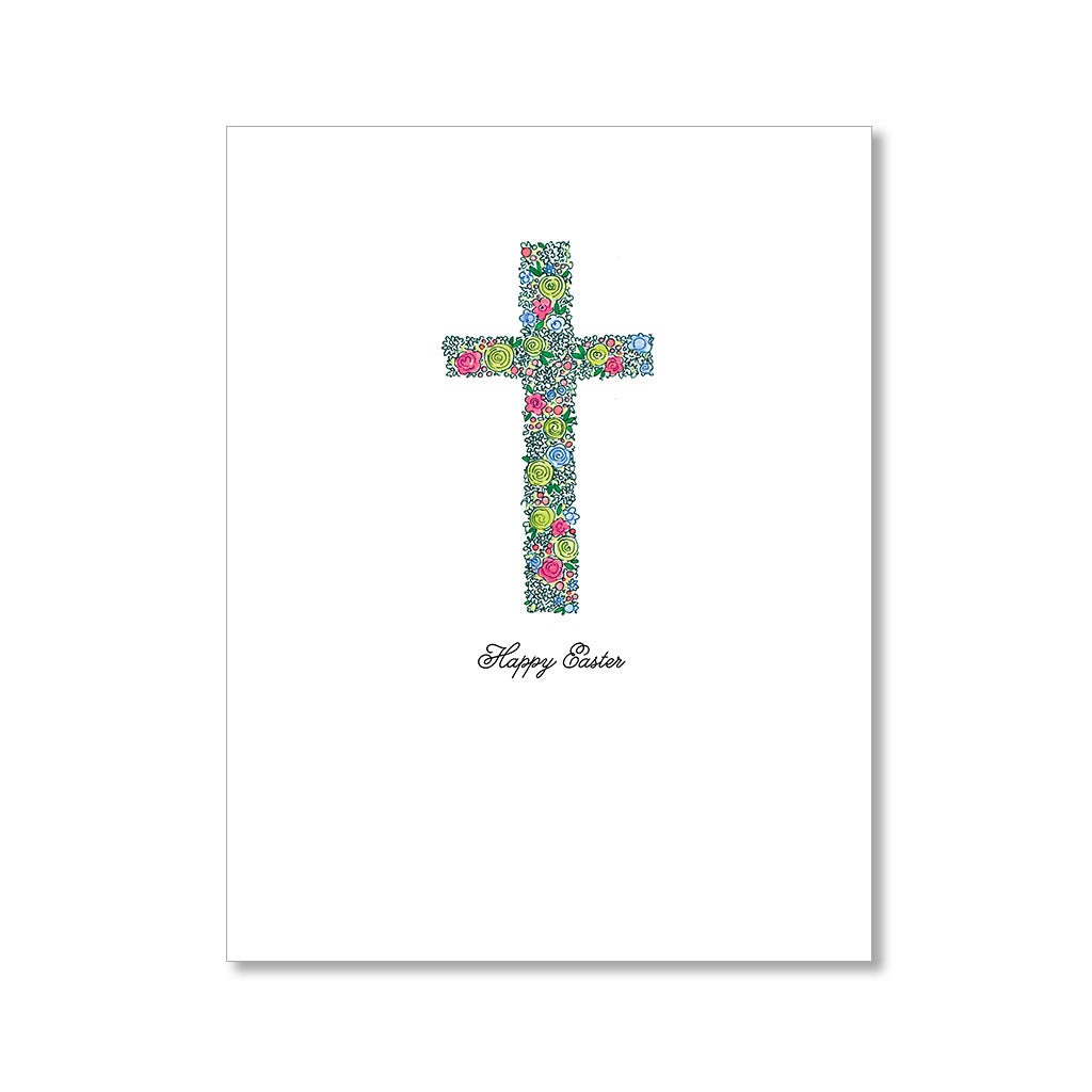 """FLORAL CROSS"" EASTER CARD"