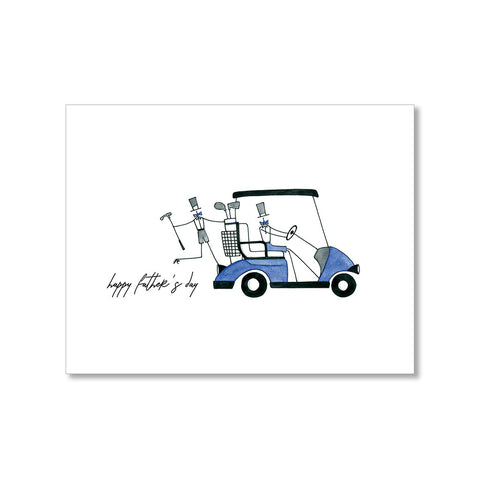 """DAD'S GOLF CART"" FATHER'S DAY CARD"