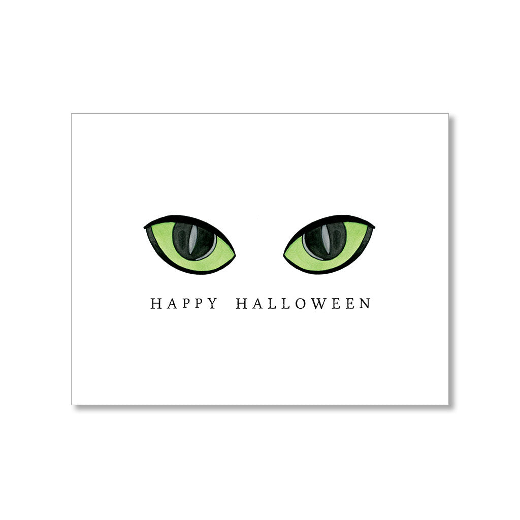 """GREEN EYES"" HALLOWEEN CARD"