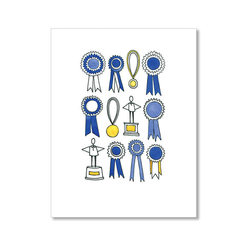 """RIBBONS, MEDALS, TROPHIES"" FATHER'S DAY CARD"