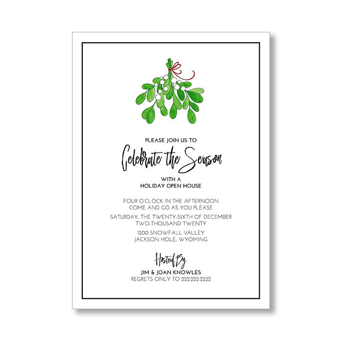 """MISTLETOE"" HOLIDAY INVITATION"