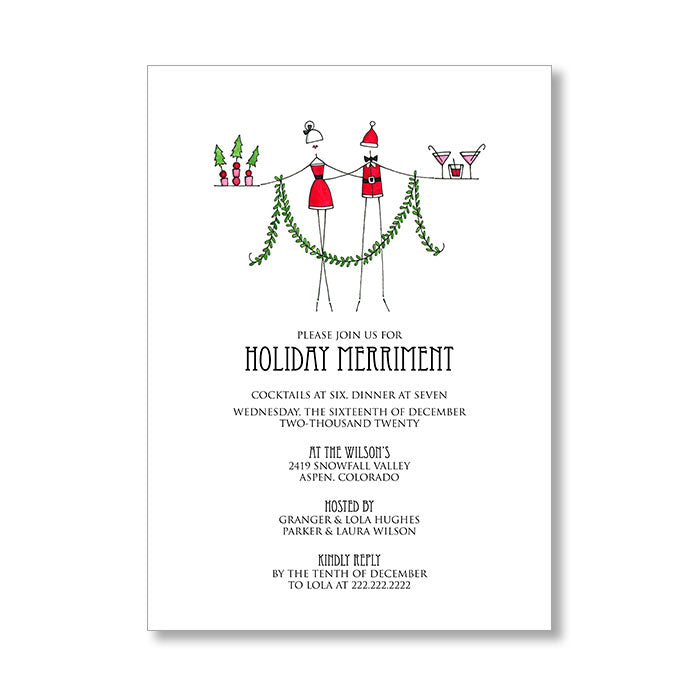 """HOLIDAY HOSTS"" HOLIDAY INVITATION"