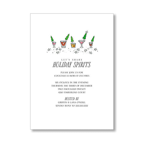 """SPIRITED"" HOLIDAY INVITATION"