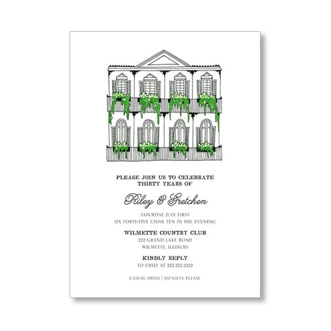 """THE BRIDE"" BRIDAL SHOWER INVITATION"