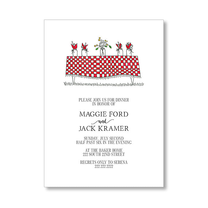 """THE PICNIC TABLE"" INVITATION"
