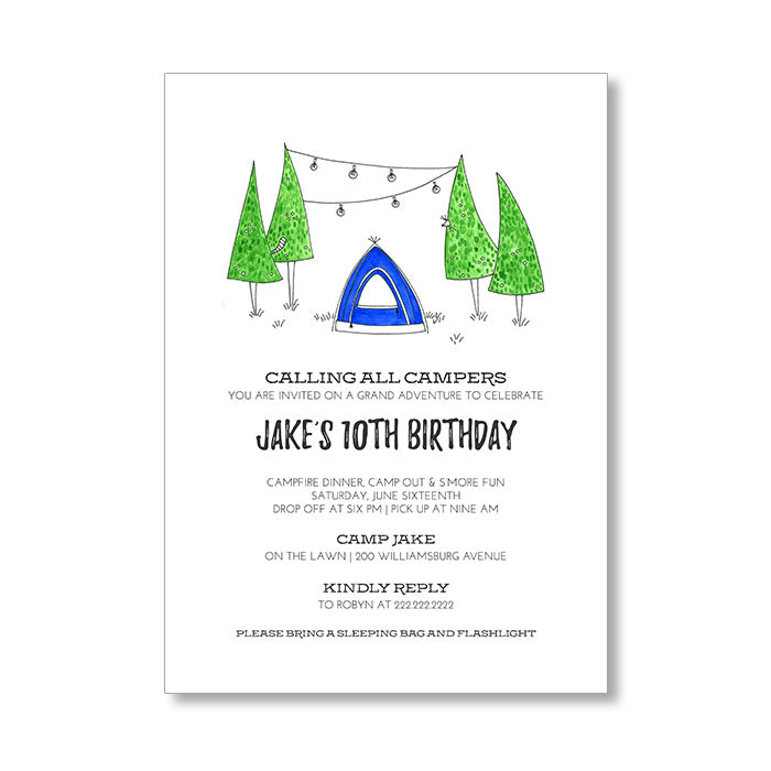 """UNDER THE TREES"" INVITATION"
