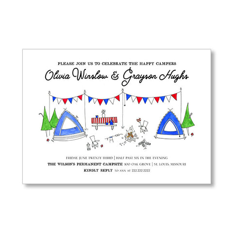 """HAPPY CAMPERS"" INVITATION"