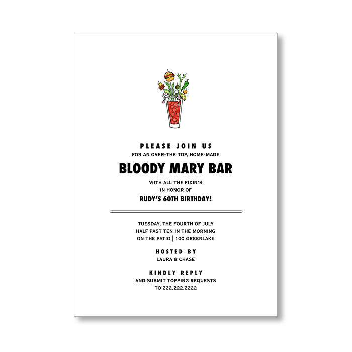 """BLOODY BAR"" INVITATION"