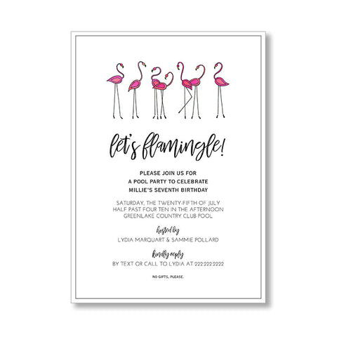"""FLAMINGLE"" INVITATION"