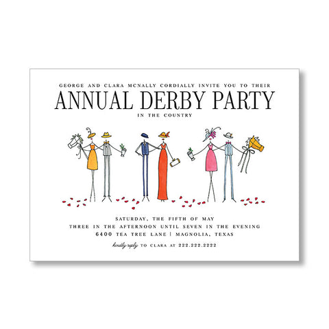 """HATS AND HORSES"" INVITATION"