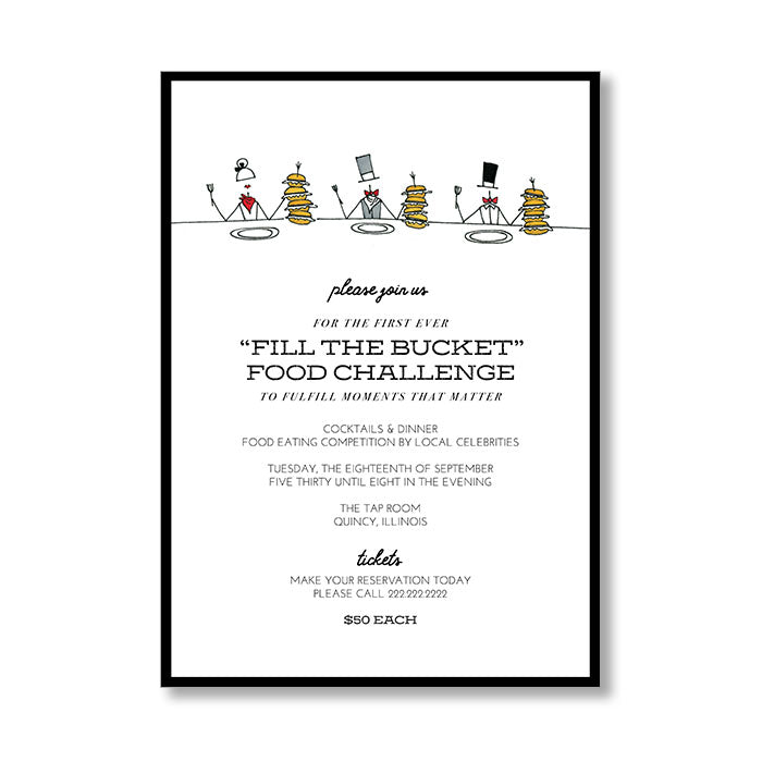 """THE GREAT FOOD CHALLENGE"" INVITATION"