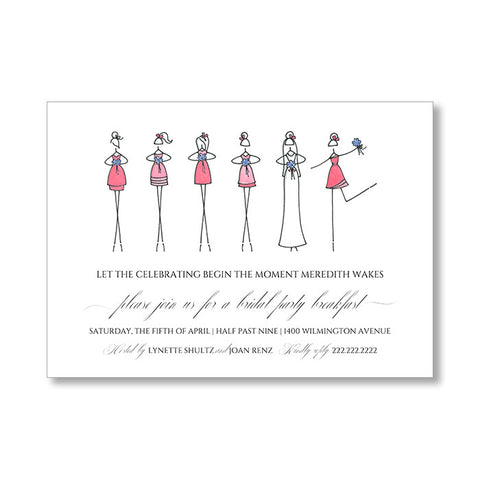 """BRIDESMAIDS"" BRIDAL SHOWER INVITATION"
