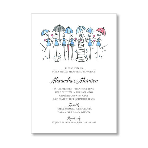 """BRIDAL SHOWERS"" BRIDAL SHOWER INSERT CARD"