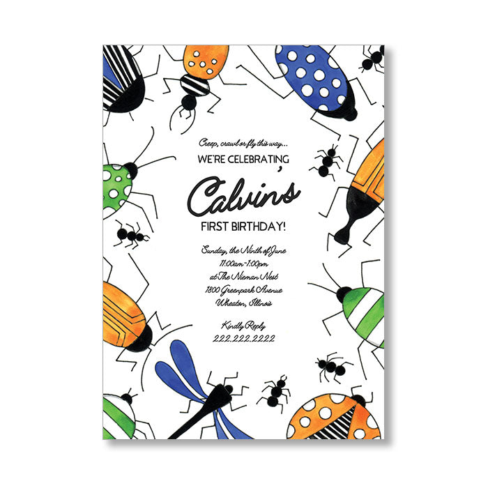 """BUGGY BORDER"" INVITATION"