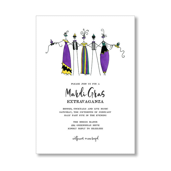 """MARDI GRAS"" INVITATION"