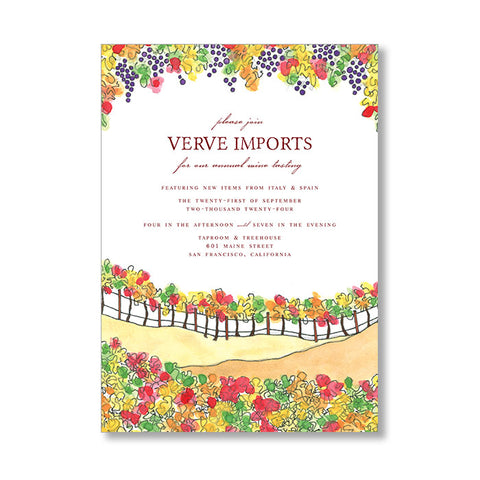 """FALL VINEYARD"" INVITATION"
