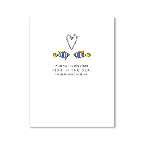 """FISH IN THE SEA"" LOVE CARD"