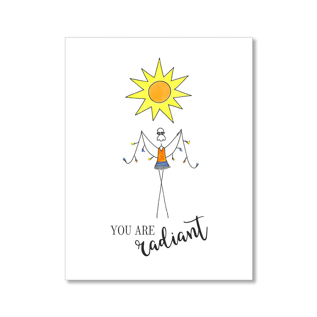 """RADIANT"" FRIENDSHIP CARD"