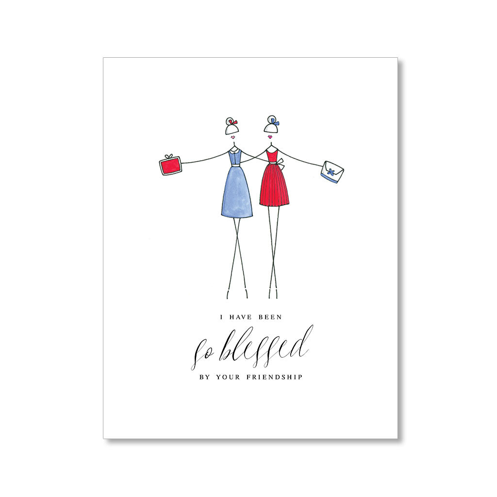 """BLESSED BY FRIENDSHIP"" FRIENDSHIP CARD"