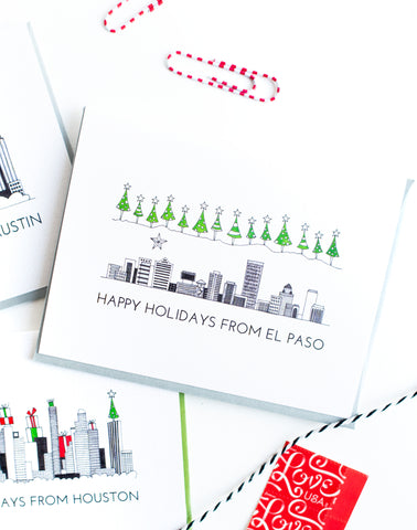 """EL PASO SKYLINE"" HOLIDAY CARD"