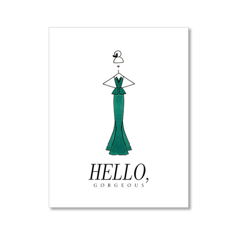 """THE GREEN DRESS"" ANYTIME CARD"
