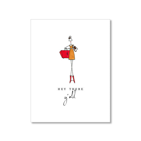 """RED BOOTS"" THANK YOU CARD"