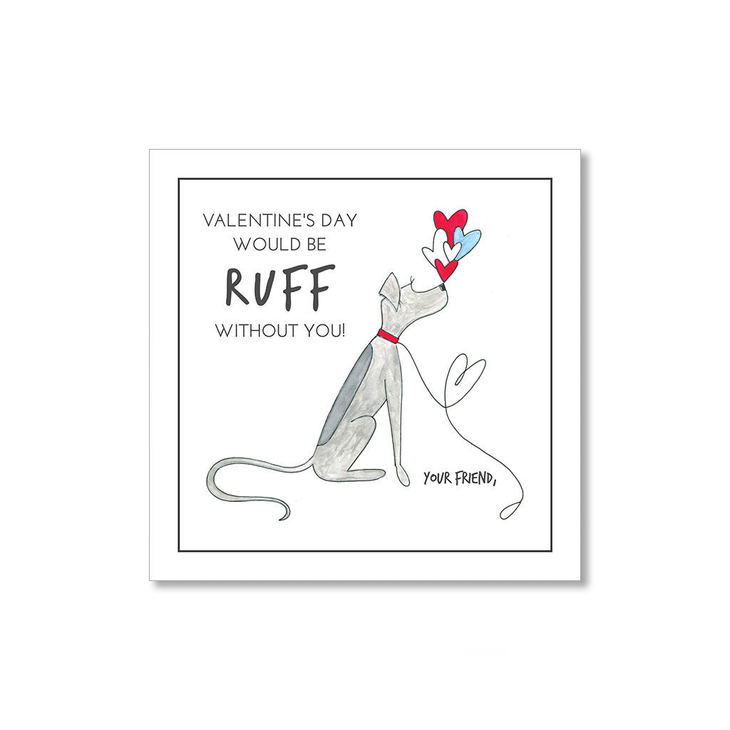 """RUFF"" MINI VALENTINES - SET OF 10"