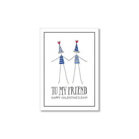 """TO MY FRIEND"" MINI VALENTINES - SET OF 10"