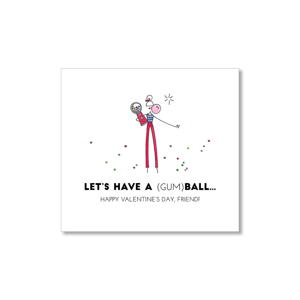 """GUM BALL"" MINI VALENTINES - SET OF 10"