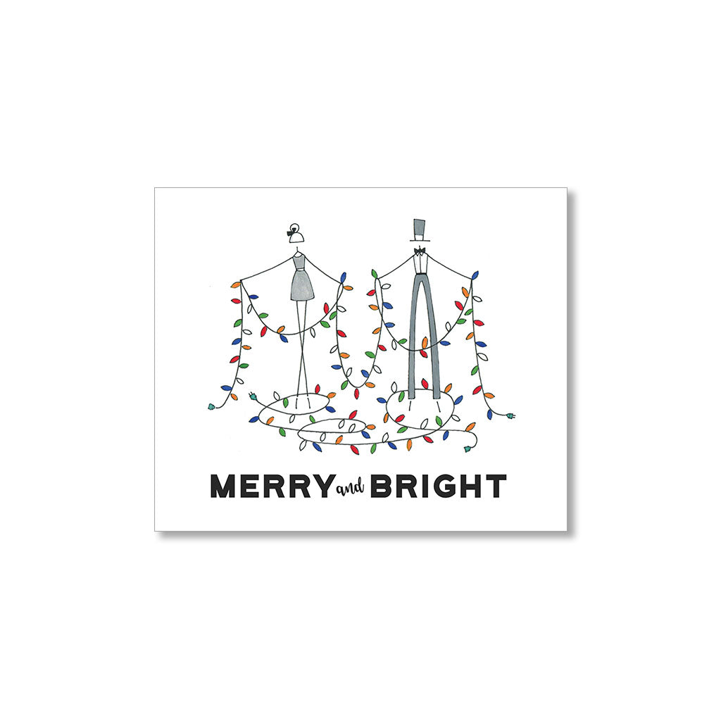 """MERRY & BRIGHT"" GIFT TAGS - SET OF 10"