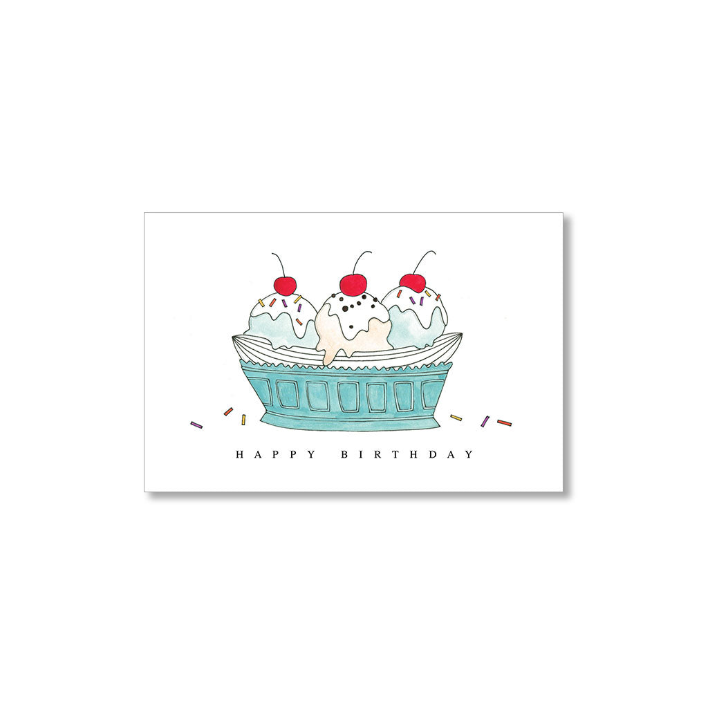 """BANANA SPLIT"" GIFT TAGS - SET OF 10"