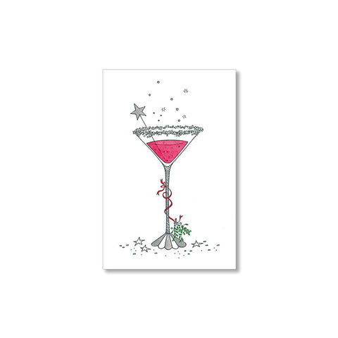 """MARTINIS & MISTLETOE"" GIFT TAGS - SET OF 10"