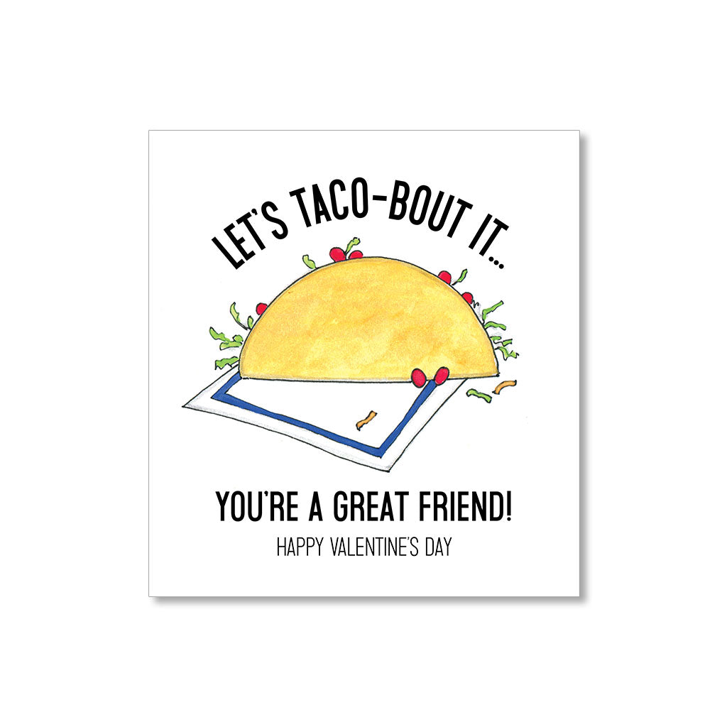 """TACO-BOUT IT"" MINI VALENTINES - SET OF 10"
