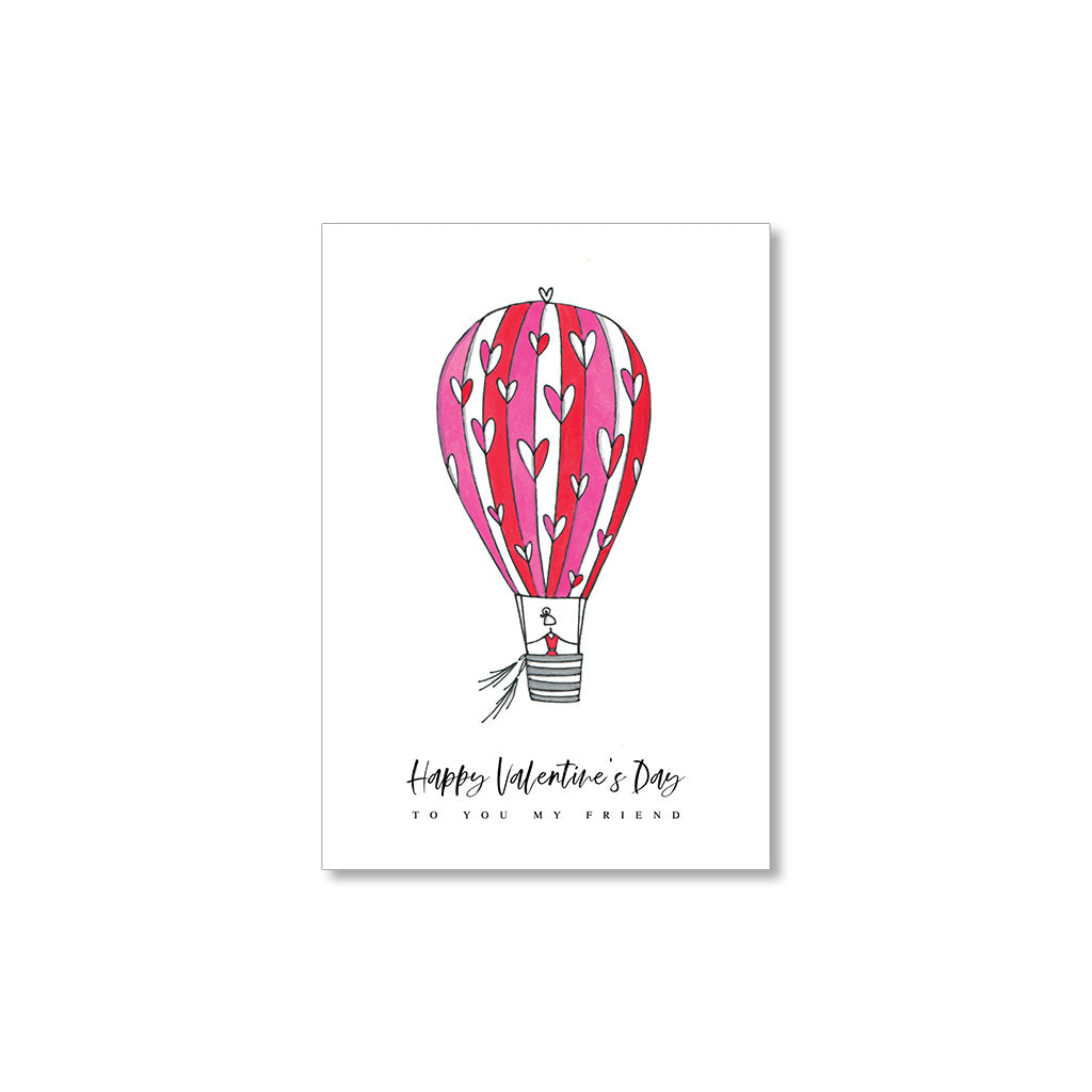 """HOT AIR BALLON"" MINI VALENTINES - SET OF 10"