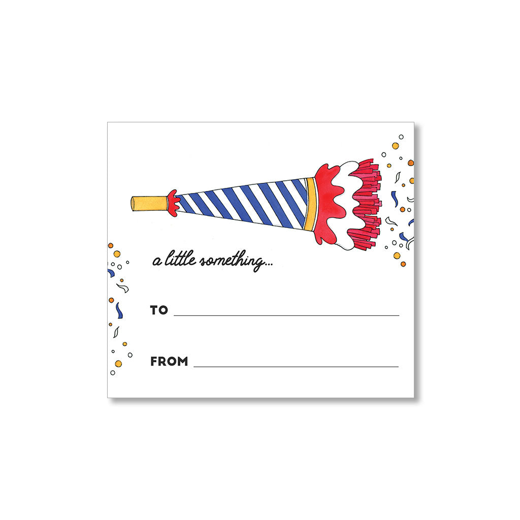 """PARTY HORN"" GIFT TAGS - SET OF 10"