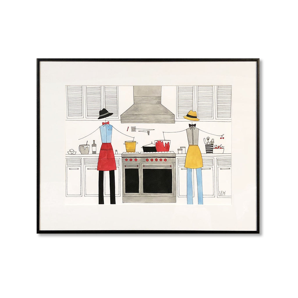 """IN THE KITCHEN: MISTER MISTER"" ORIGINAL PAINTING"