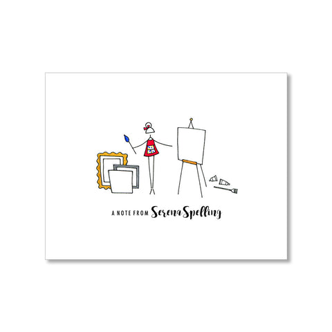 """THE PAINTER"" PERSONALIZED STATIONERY"