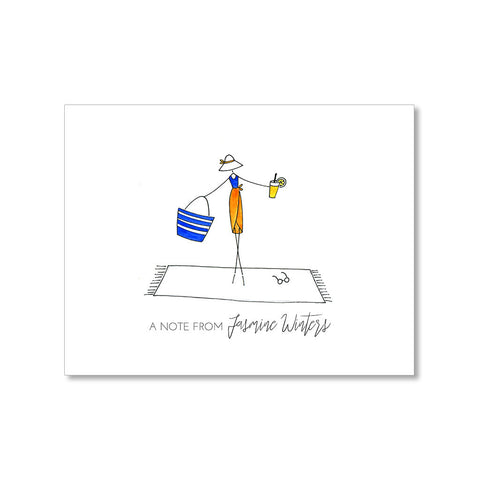 """BEACHY"" PERSONALIZED STATIONERY"