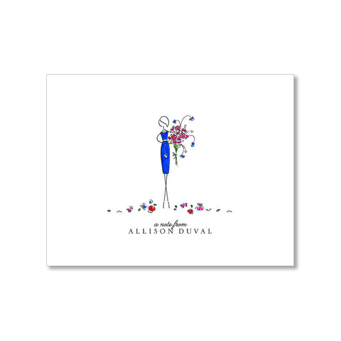 """BOUQUET"" PERSONALIZED STATIONERY"